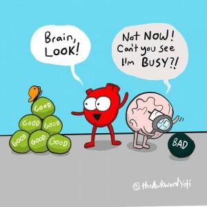 Brain busy